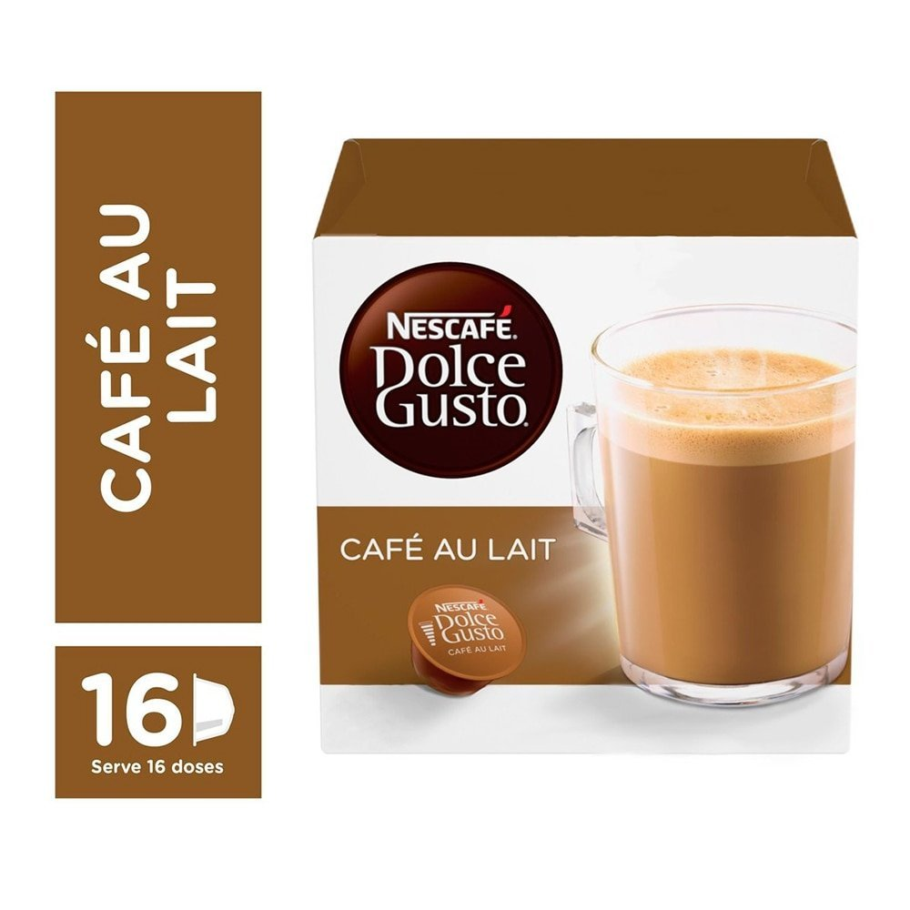 dolce gusto caf au lait 160g c 16 c psulas nescaf. Black Bedroom Furniture Sets. Home Design Ideas