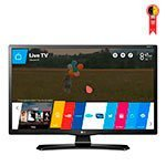 Smart TV LED 28' LG 28MT49S-PS HD com Wi-Fi 1 USB 2 HDMI Função Monitor DTV Screen Share e 62Hz