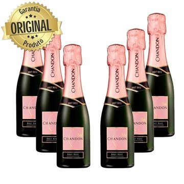 Kit 6 Espumante Baby Chandon Brut Rose 187ml