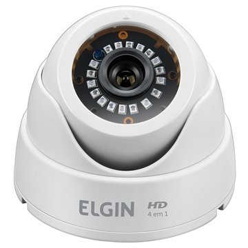 Câmera de Monitoramento AHD Elgin Lentes Dome, 24 LEDs, Night Vision, Sensor Digital 1/4""